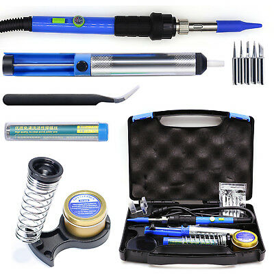 60W 240V Soldering Iron Kit Electronic Welding Tools Adjustable Temperature Pump