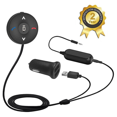 Bluetooth 4.1 Car Wireless Audio Receiver Dual Port USB Charger Noise Isolator
