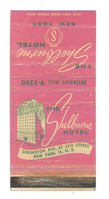 The Shelburne Hotel New York Matchbox Label Anni '50 America Scatola Fiammiferi