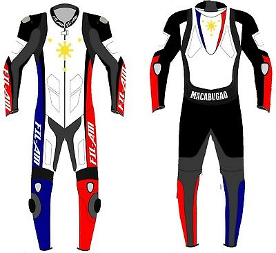FIl-AM Motorbike leather Suit Motorcycle leather suit with Custom name and color
