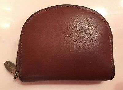 Longaberger Leather Zip Coin Purse Country Estates Collection