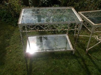 Victorian Wrought Iron Glass Table No.2 Blacksmith Made Plant Stand