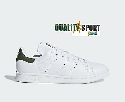 Adidas Stan Smith Bianco Verdone Scarpe Shoes Uomo Sportive Sneakers B41477 2018