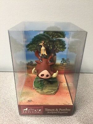 Timon & Pumbaa - The Lion King Sculpted Figurine by Enesco - NEW