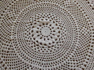 """30"""" Round hand crocheted Table cloth"""