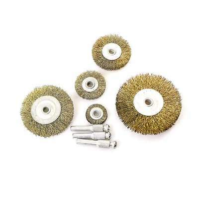 5pcs Drill Wire Wheel / Cup / Long Brush Metal Cleaning Rust Removal Grinder Set