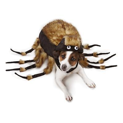 Fuzzy Tarantula Costume For Large Dog Pet Brown & Black