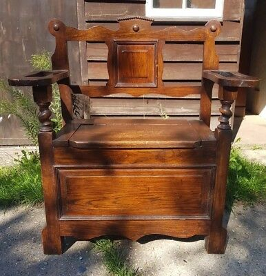 Edwardian Arts & Crafts Hall Seat