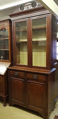 19th Century Mahogany Bookcase Cupboard