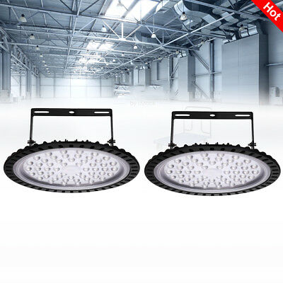 2x 200W UFO LED High Bay Light Factory Workshop Industrial Area Lamp Cool  White
