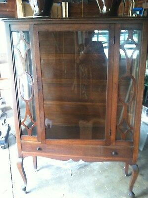 Antique Walnut China Cabinet by Carolina Cabinet Co. No. 450 American Walnut