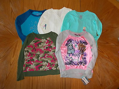 Monster High Hanes Faded Glory Lot Of 5 Long Sleeve Shirts Girls Size 6/6X