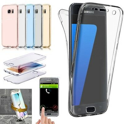 360° Coque Etui Housse Clear Integral Full Tpu Soft Gel Silicone Tactile Samsung