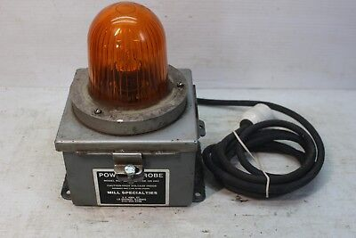 Mill Specialties Power Strobe Amber Model 3200