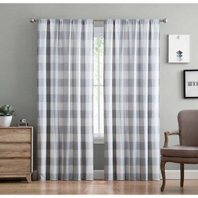 Everyday Buffalo Plaid Curtain Panel Pair by Truly Soft