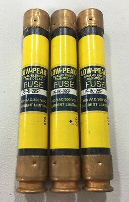 Lot Of 3  Cooper Bussmann LPS-RK-20SP Low-Peak Time Delay Fuses 20 Amp 600 VAC