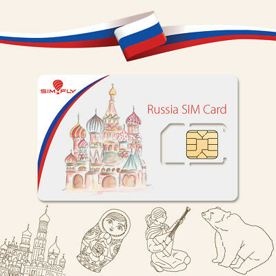 Russia SIM Card Prepaid MTS (MTC) 18 GB Data, 2000 Minutes + SMS, 30 Days 4G LTE