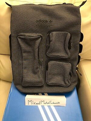 df321d40313 ... size 40 c57ef 472aa Adidas NMD Backpack DAY BR4714 Grey Black 3 Stripes  ...