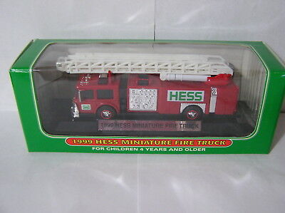 Hess 1999 Mini Fire Ladder Truck