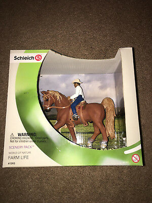 Schleich Horse Cowboy Farm Life Scenery Pack 41393 World Nature Saddle Bridle.