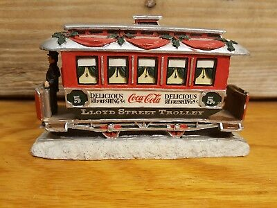 1993 Coca Cola Town Square Collection LLOYD STREET TROLLEY Christmas 🎄