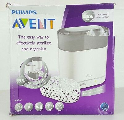 Philips AVENT 4-in-1 Electric Steam Sterilizer, New , Free Shipping Dmg Box