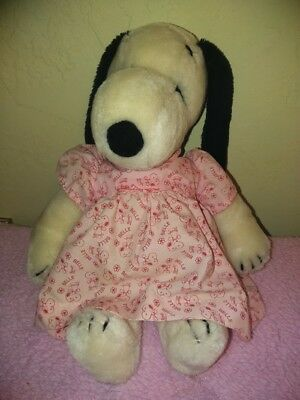 Vintage 1968 United Features SNOOPY'S SISTER BELLE Plush In Dress HTF