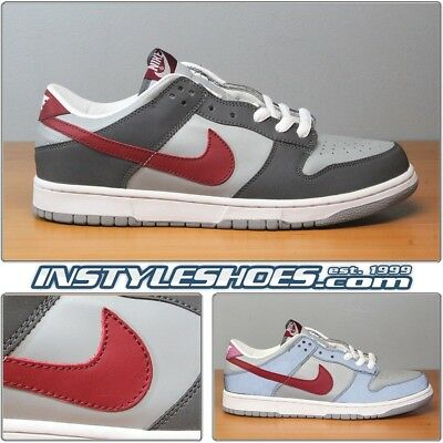 sports shoes e39fe 2b7ee NIKE DUNK LOW Sz 12 DS Lt Graphite Team Red 3M VTG 624044-063
