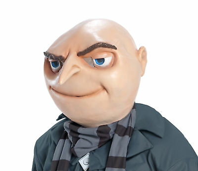 Despicable Me 2 Gru Costume Vinyl Mask Adult One Size