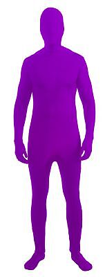 Disappearing Man Stretch Costume Jumpsuit Teen: Neon Purple One Size Fits Most