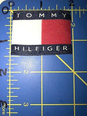 Tommy Hilfiger Patch Tag Flag Red White Blue Fashion Designer Clothing Style