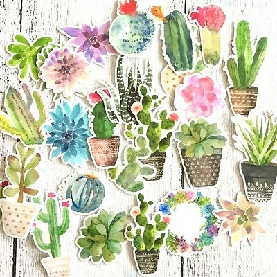 Tropical Cactus / Succulent Stickers, Planner, Cards, Craft, Journal 28/Pk