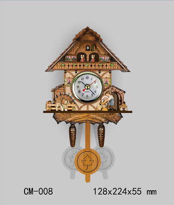LE German Creative Wooden Cuckoo Wall Clock Retro Wall Clock Home Decoration