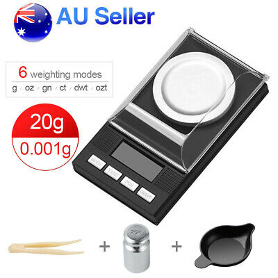 20g/0.001g High Precision Digital Scales Jewellery Milligram Electronic Scales