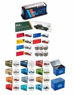 2017 & 2018 50c UNCIRCULATED FORD HERITAGE & MOTORSPORT COLLECTION COINS TIN