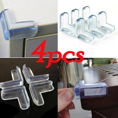 4x Child Baby Safe Good Guard Protector Table Corner Edge Protection Cover UK