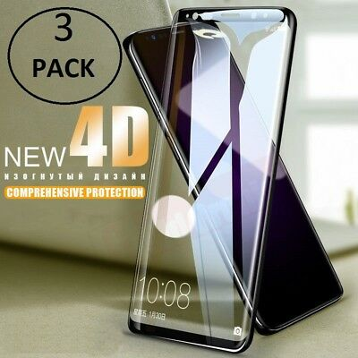 1/2/3x Samsung Galaxy S9 S8 Plus 4D Full Cover Tempered Glass Screen Protector