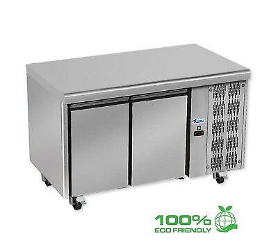 Technodome Commercial 2 Door Under Counter Refrigerator - Stainless Steel