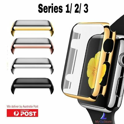 Full Cover Case Apple Watch Series 3,2 1 + Built In iWatch Screen Protector