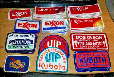 75 - Mixed Patches - Exxon, Kubota, Silvermoon Feeds, Sunoco, Tire and Auto