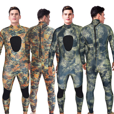 3MM Camouflage Full Body Wetsuit SCUBA Dive Skin Free Diving Spear Fishing S-3XL