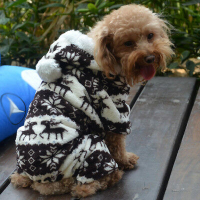 Small Pet Dog Winter Fleece Snowflake Clothes Puppy Cat Coat Costume Apparel New