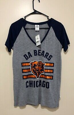 Victorias Secret PINK Chicago Bears Short Sleeve T-shirt Size S. New With Tags