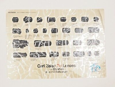 CARL ZEISS T* LENSES with CONTAX 150 Years - Poster/Desktop/Chart - Very Rare Ad