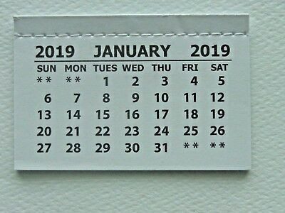 25 Mini 2019 Monthly Tear Off Calendar Pad (Jan-Dec) Back Page Is Blank Crafts