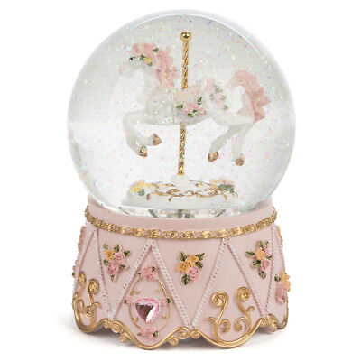 NEW The Russell Collection Carousel Horse Snow Dome