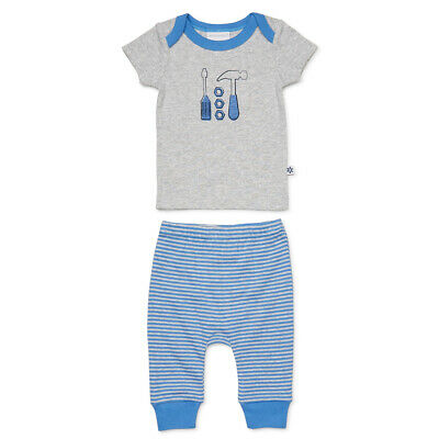 NEW Marquise T-Shirt & Pant Set Grey & Stripe 2 Pce Size 000