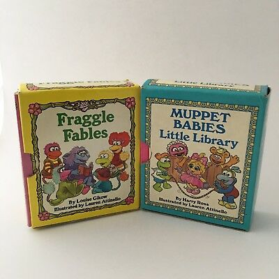 Fraggle Fables & Muppet Babies Little Library - Vintage Book Sets