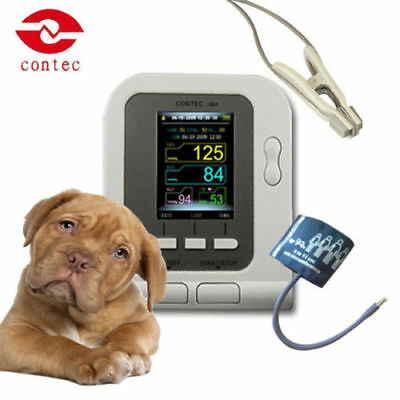 Digital Veterinary NIBP Blood Pressure Monitor Software with SPO2 Probe for VET