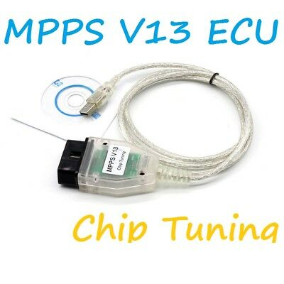 MPPS V13.02 Interface Car VAG USB Cable OBD2 FOR VW AUDI BMW Citroen Ecu Flasher